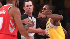 Rondo VS Paul  || Rajon Rondo Throws Punch At Chris Paul After Brandon Ingram Shoves James Harden! Lakers vs Rockets