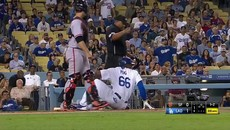 Yasiel Puig Charges Madison Bumgarner After Getting Hit