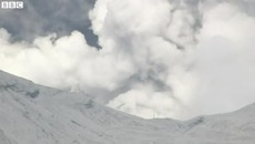 The Moment Japanese Volcano Mount Aso Erupts on Island of Kyushu.mp4