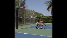 Watch- Paul Pogba and Romelu Lukaku play Basketball together in Miami.mp4